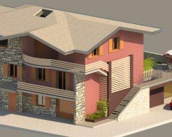 3D casa angolo vista 1 esterno