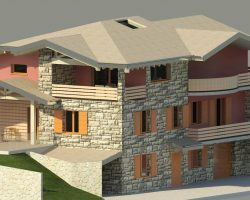 3D casa angolo vista 3 esterno